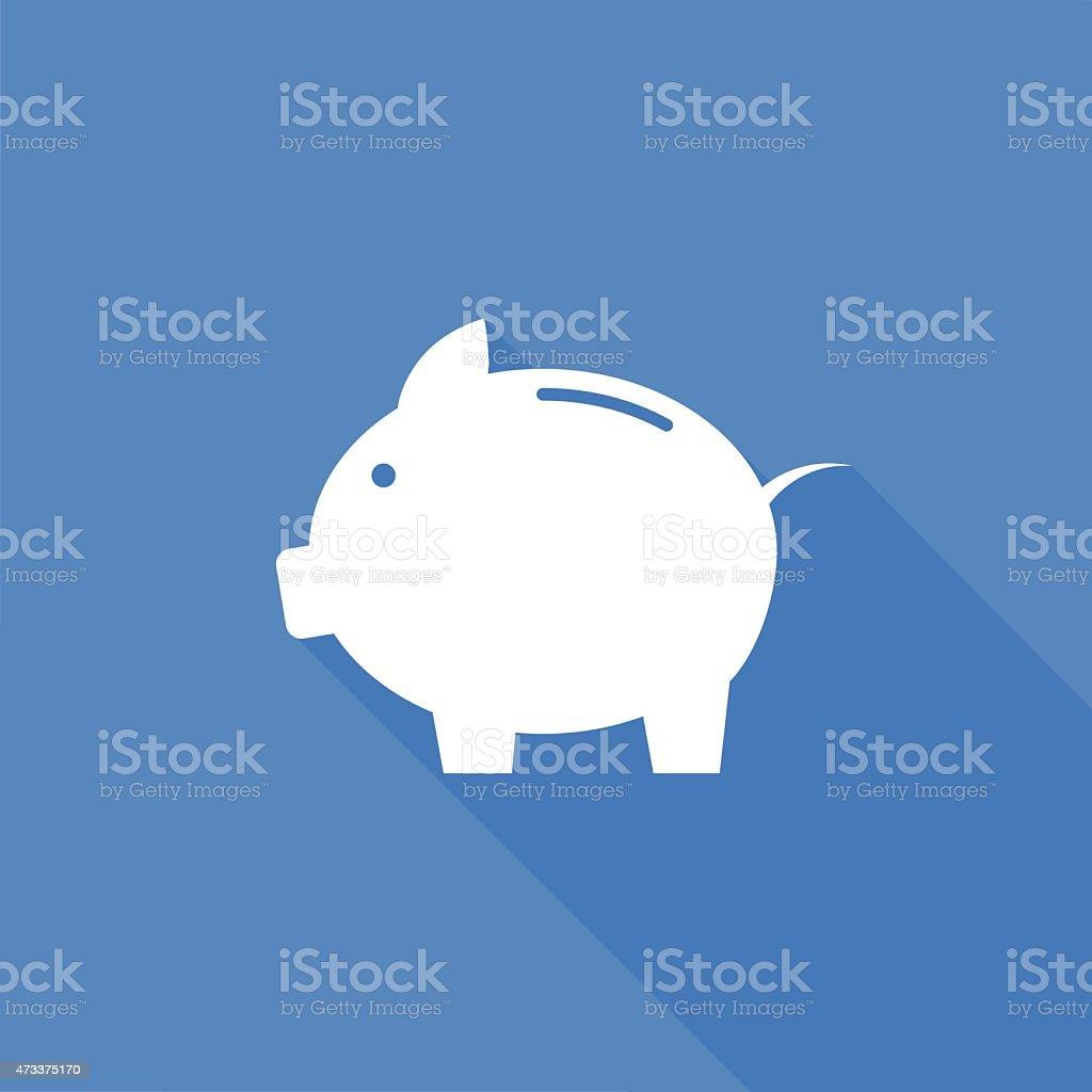 piggy bank icon vector art illustration