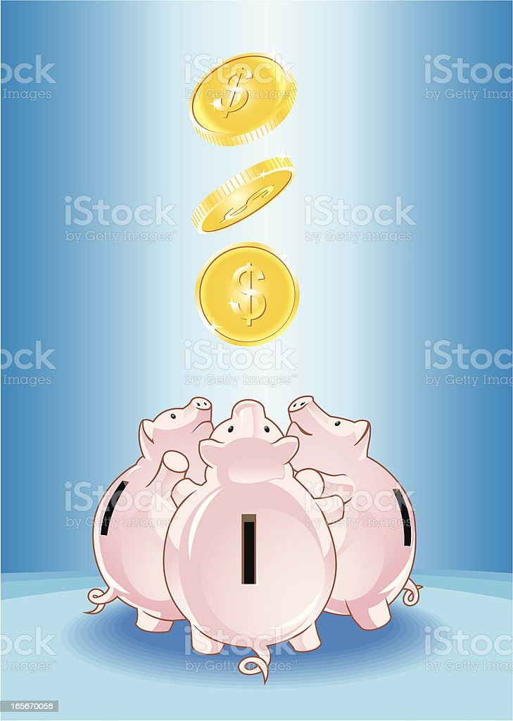 Piggy Bank Toss vector art illustration