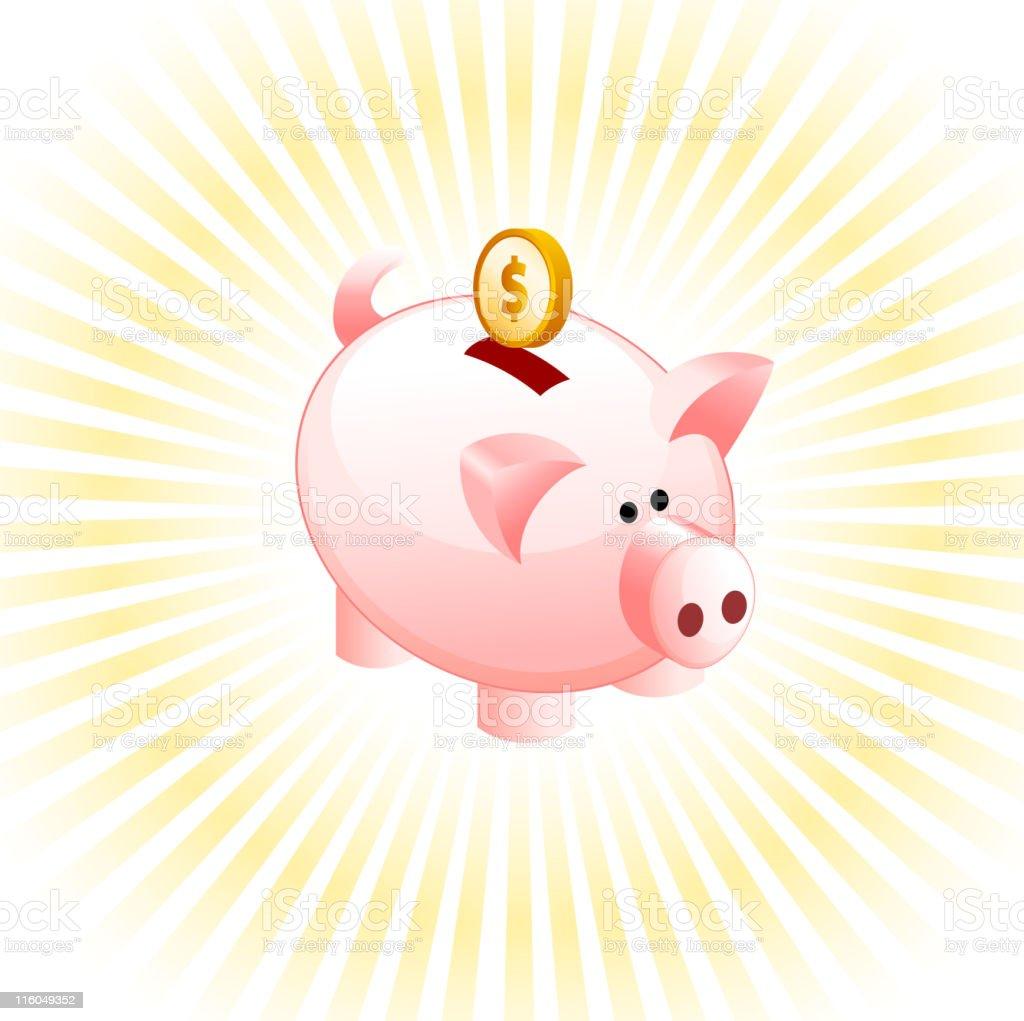 piggy bank vector art illustration