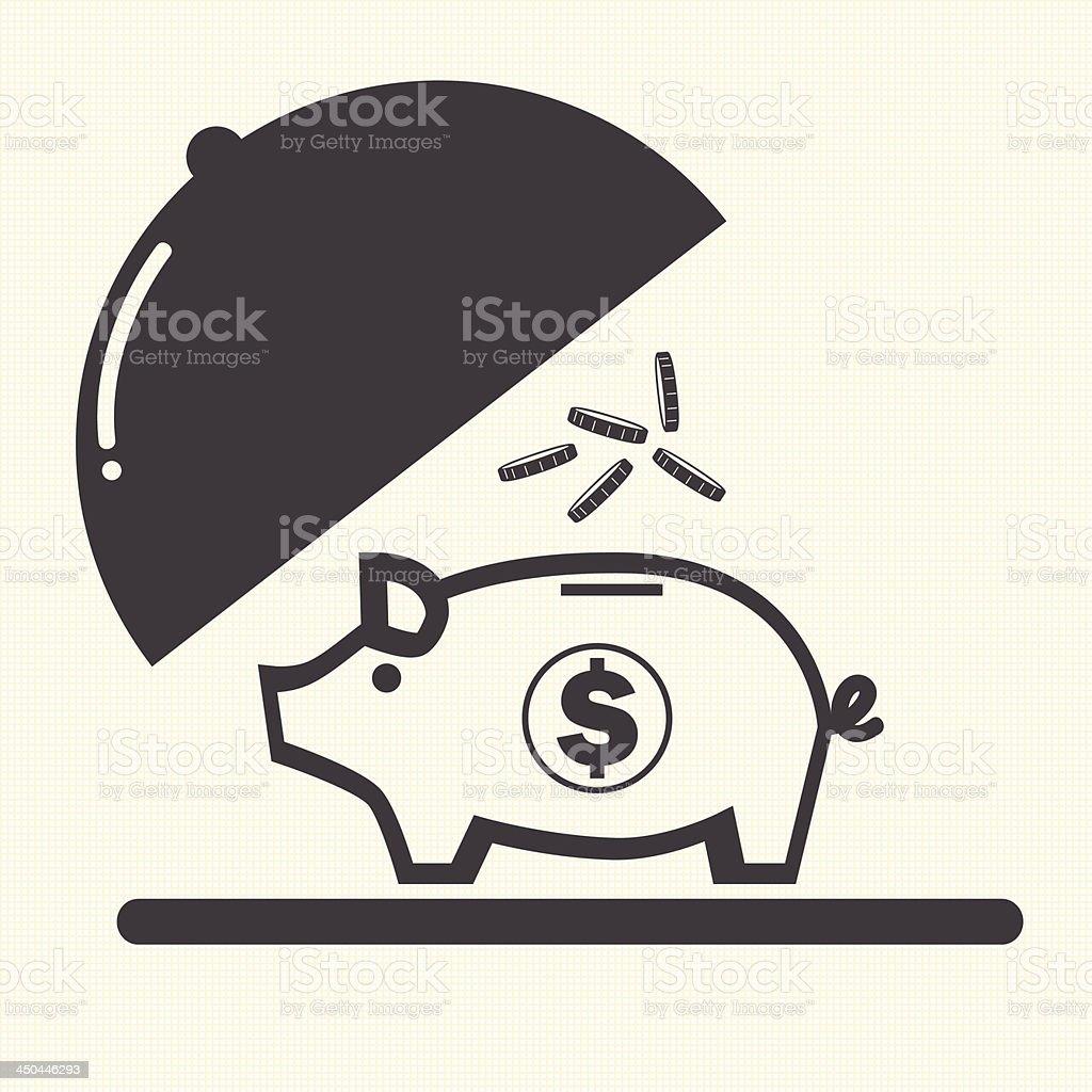 Piggy bank. vector art illustration