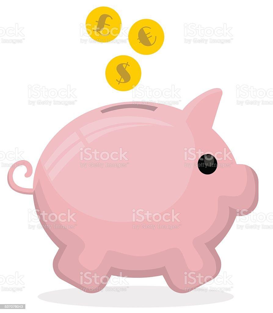Tirelire en forme de cochon stock vecteur libres de droits libre de droits