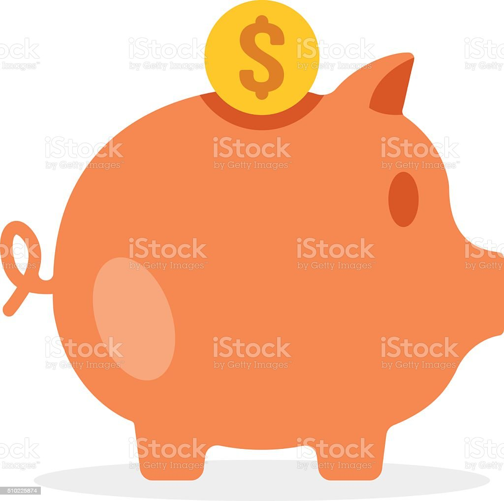 Piggy bank. Vector illustration vector art illustration