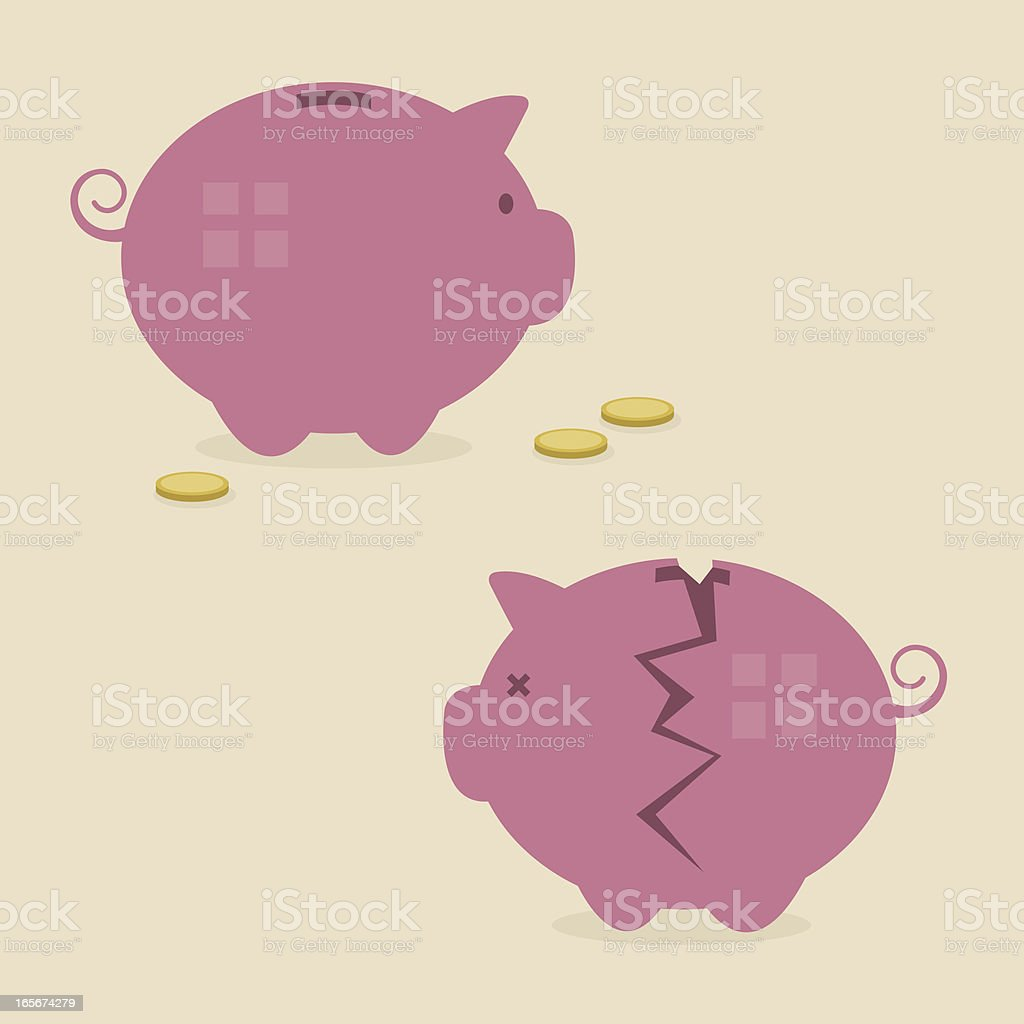 Piggy Banks vector art illustration
