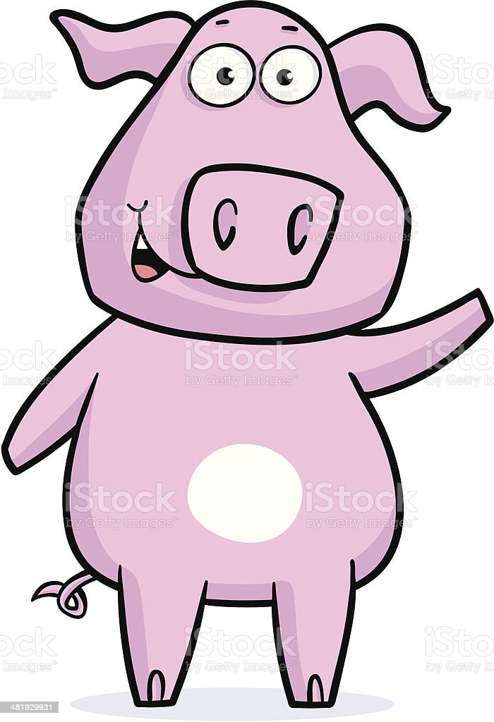 Piggy Up royalty-free stock vector art