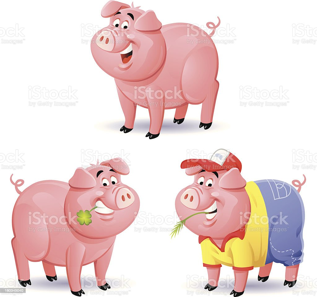 Pigs 1 royalty-free stock vector art