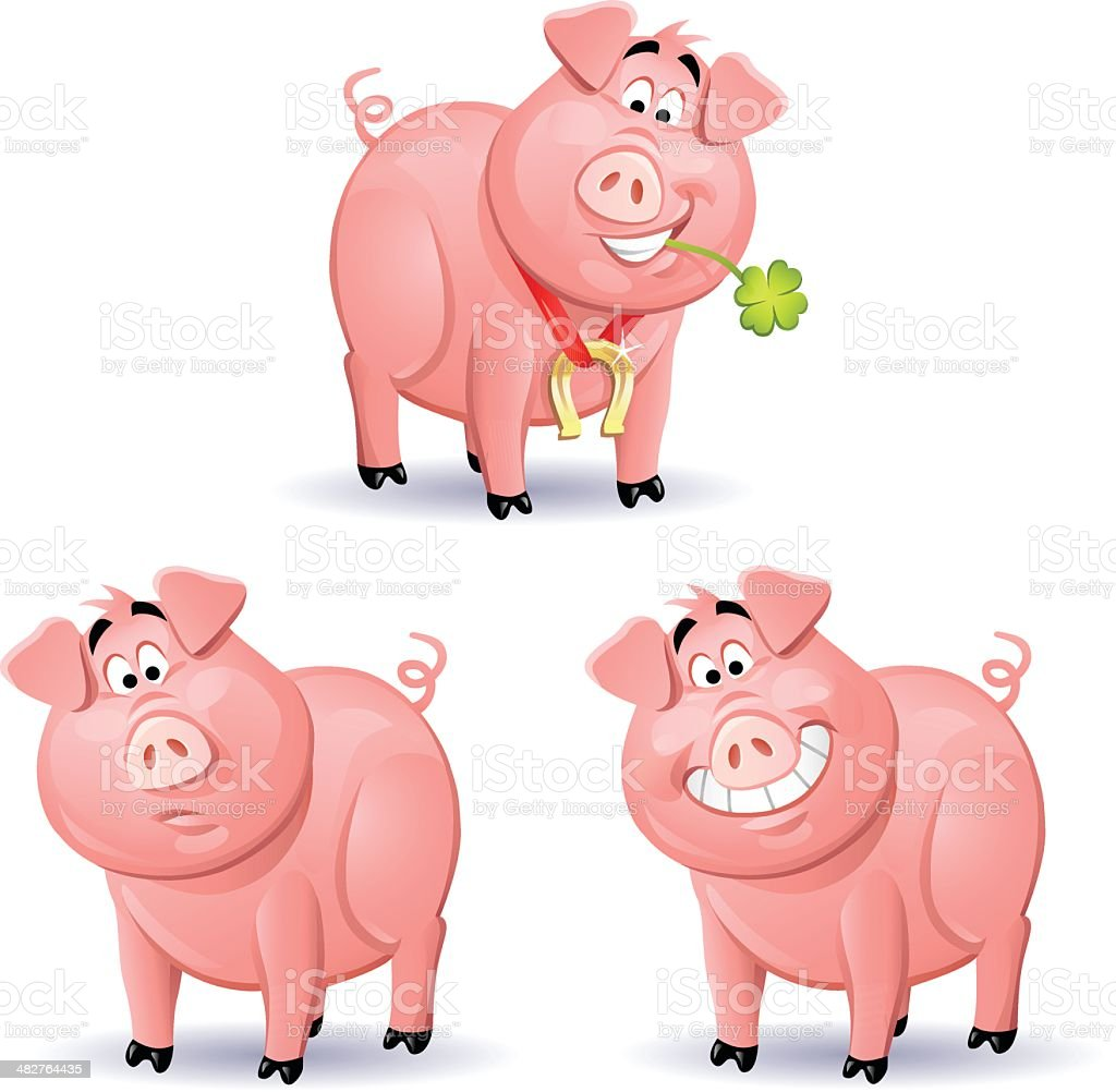 Pigs 2 royalty-free stock vector art