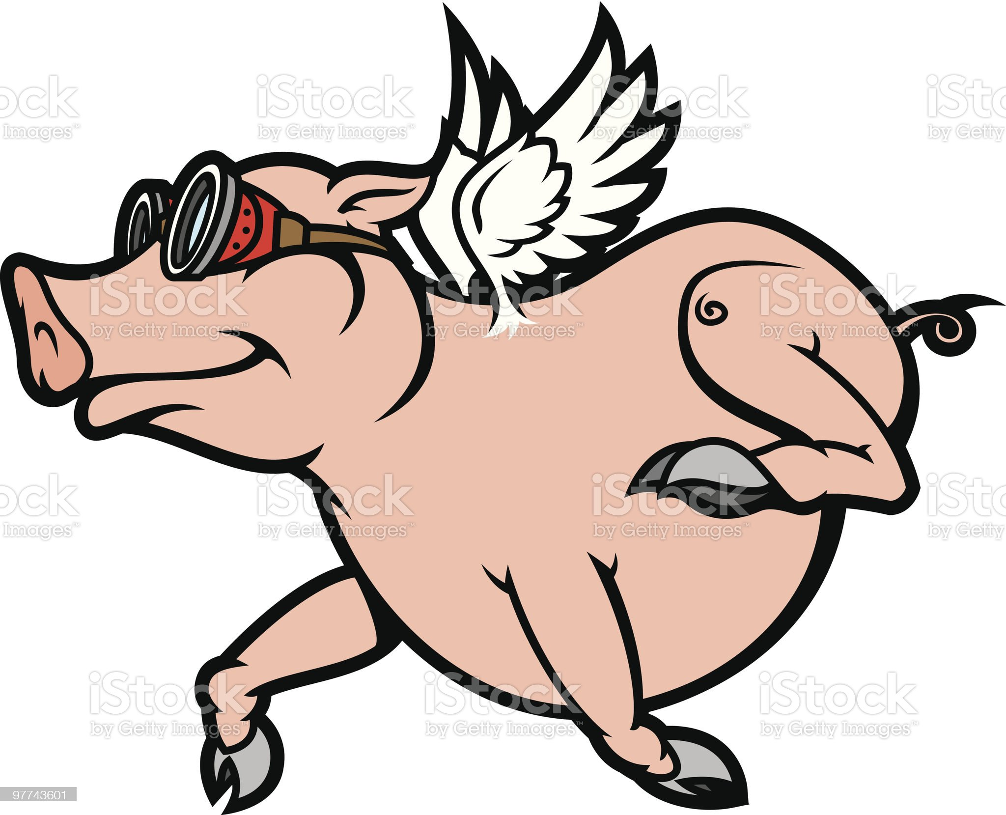 Pigs Do Fly royalty-free stock vector art