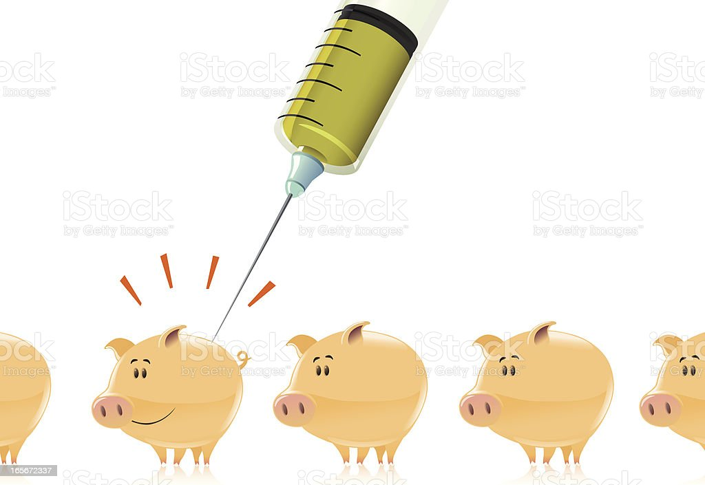 pigs vaccination royalty-free stock vector art