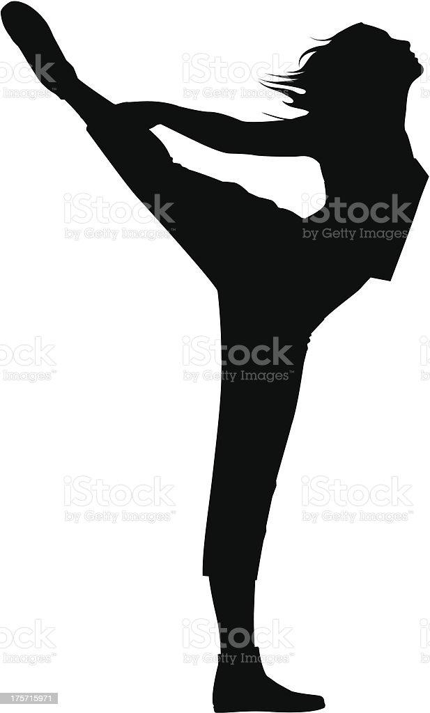 Pilates_06 royalty-free stock vector art