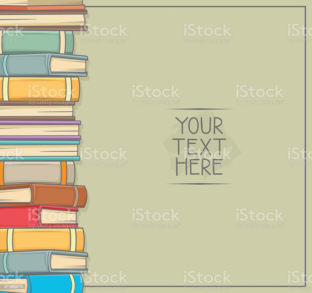 Pile of a Books . copy space for your text vector art illustration