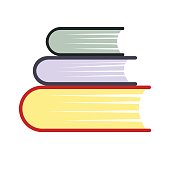 Pile of books flat icon
