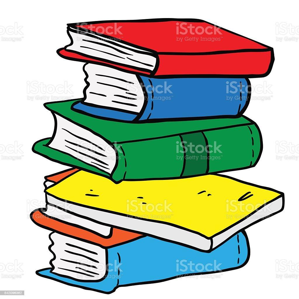 pile of books vector art illustration