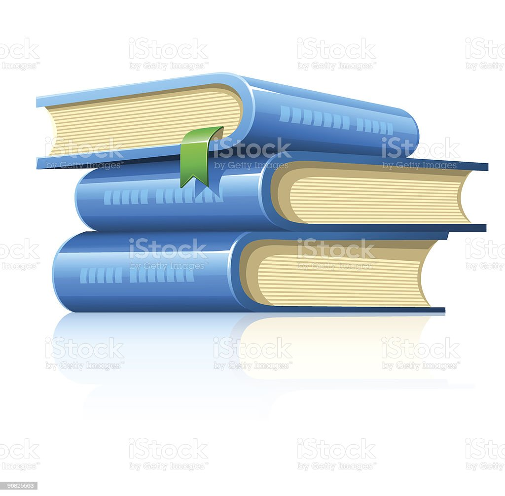 pile of books royalty-free stock vector art
