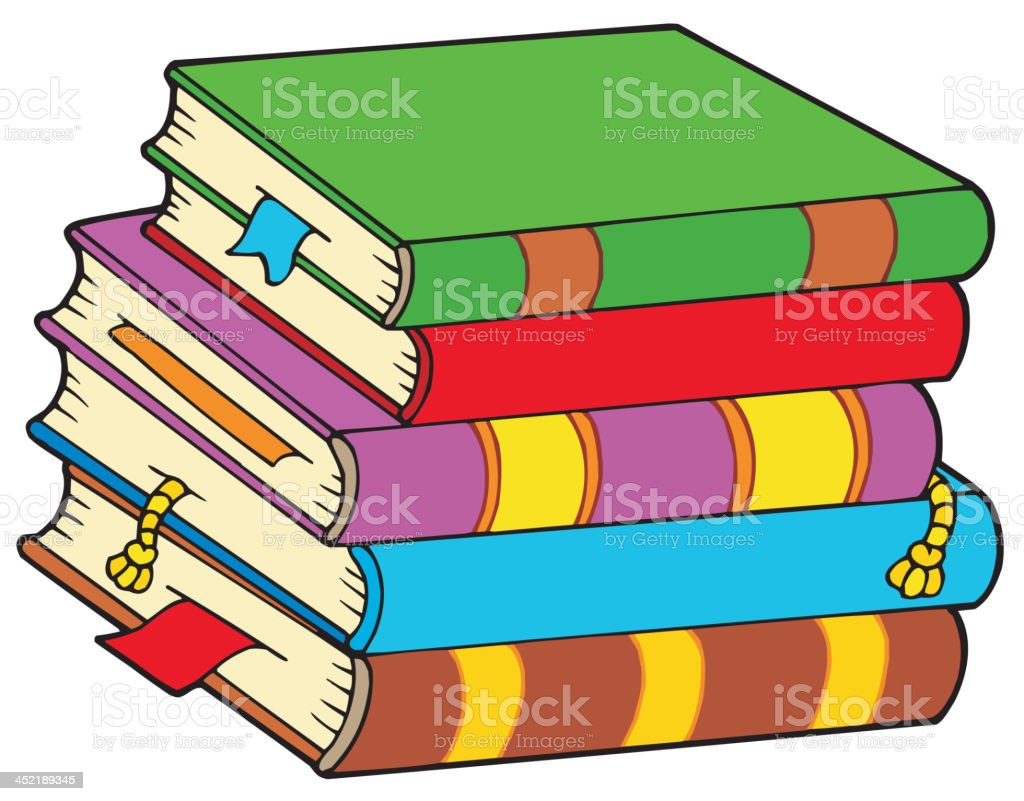 Pile of colorful books royalty-free stock vector art