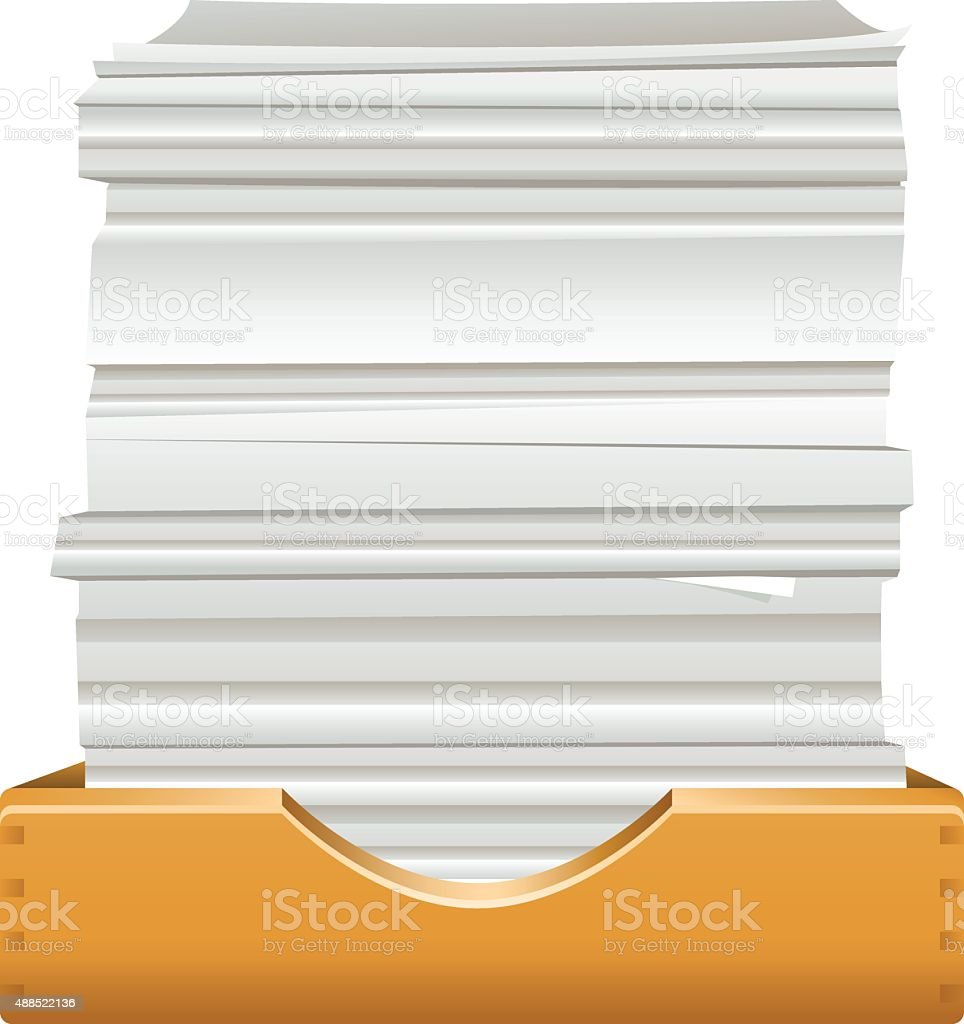 pile of documents vector art illustration
