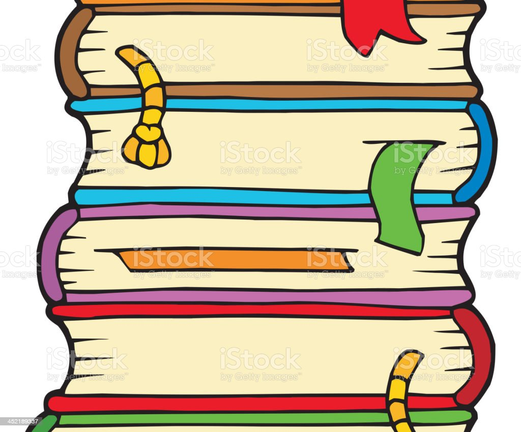 Pile of old books royalty-free stock vector art