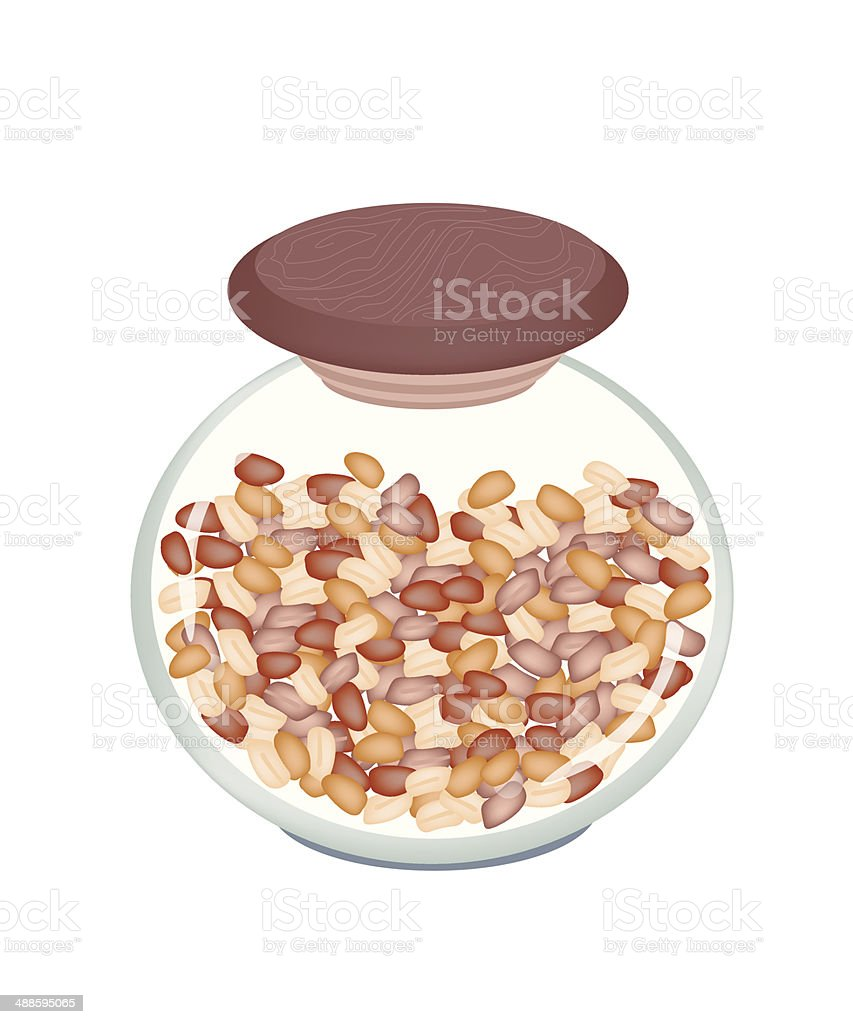 Pile of Peanuts in A jar royalty-free stock vector art