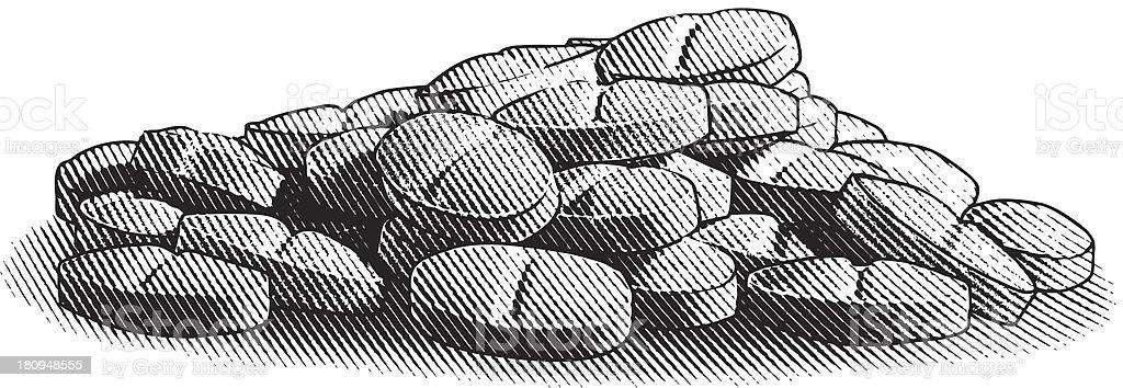 Pile of Pills vector art illustration