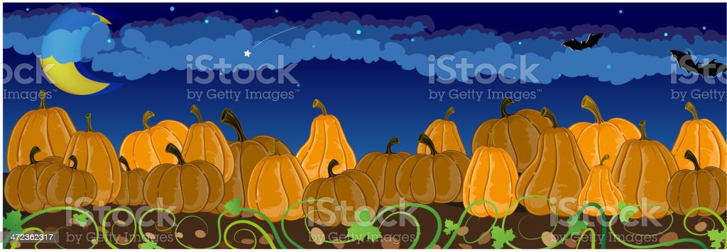 Pile of pumpkins royalty-free stock vector art