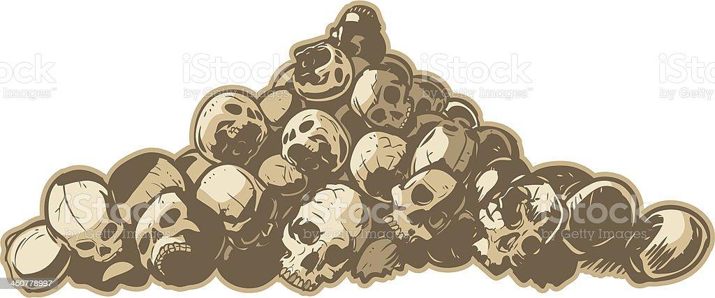 Pile Of Skulls Vector Illustration vector art illustration