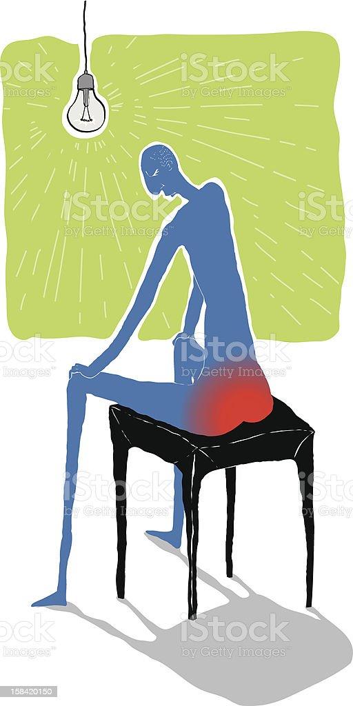 Pile painful vector illustration vector art illustration