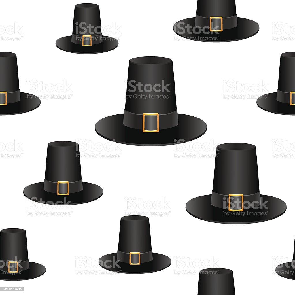 Pilgrim hat background royalty-free stock vector art