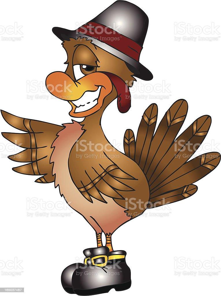 Pilgrim Turkey royalty-free stock vector art