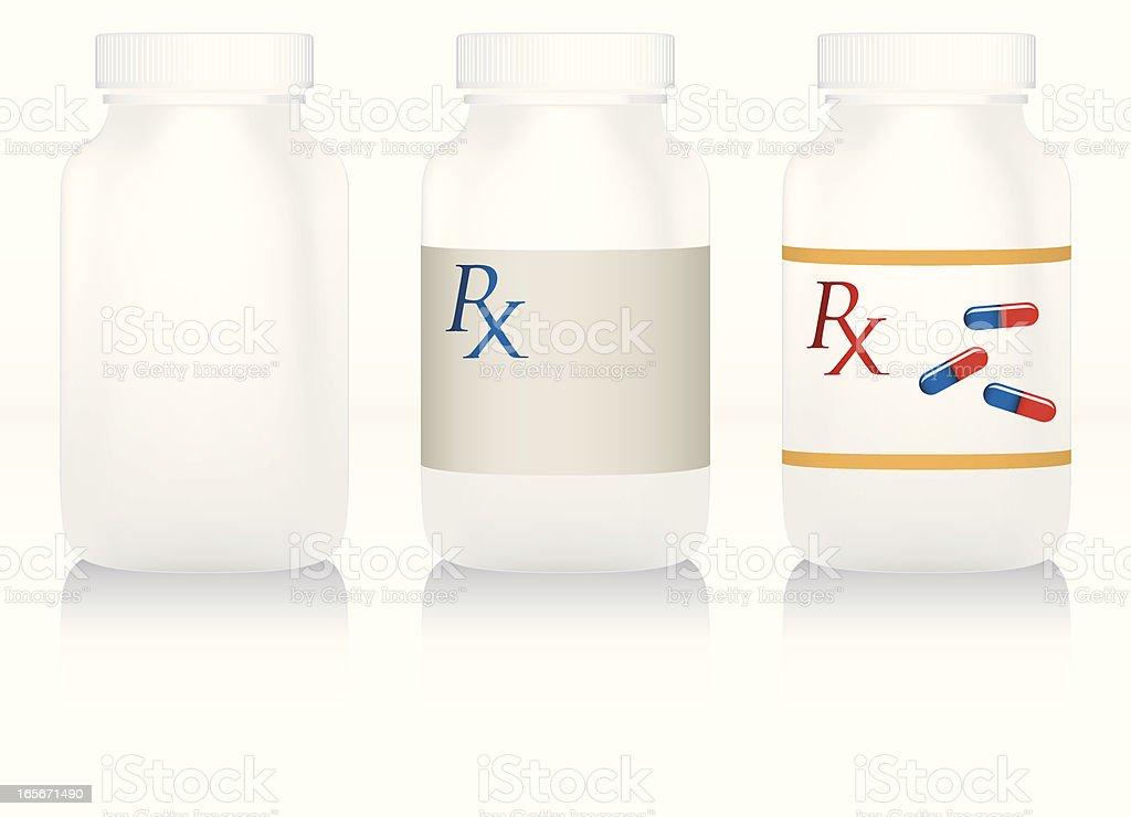 Pill Bottles vector art illustration