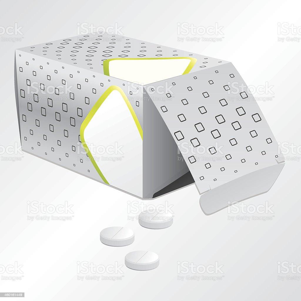 Pill box design vector art illustration