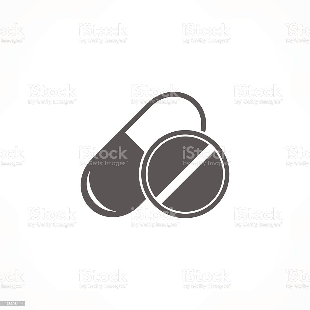 pill & capsule icon vector art illustration