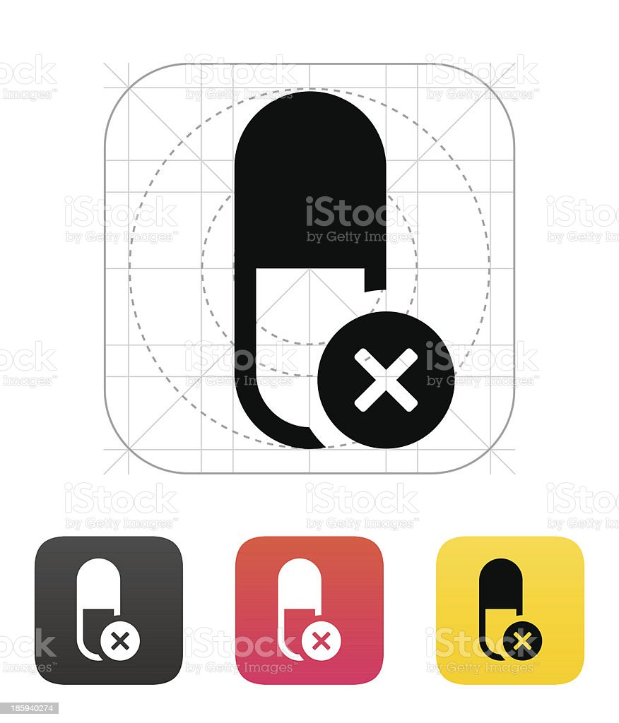 Pill Capsule icon. Vector illustration. royalty-free stock vector art