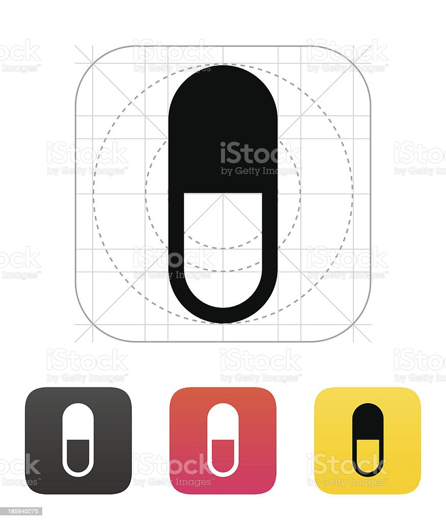 Pill Capsule icon. Vector illustration. royalty-free stock vector art