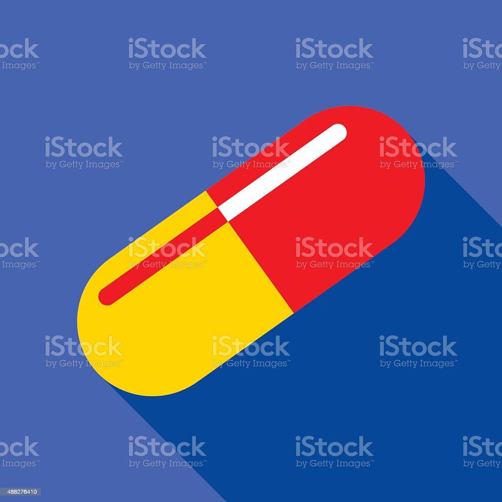 Pill Icon vector art illustration
