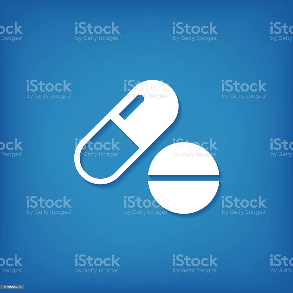 Pill Icon vector art illustration