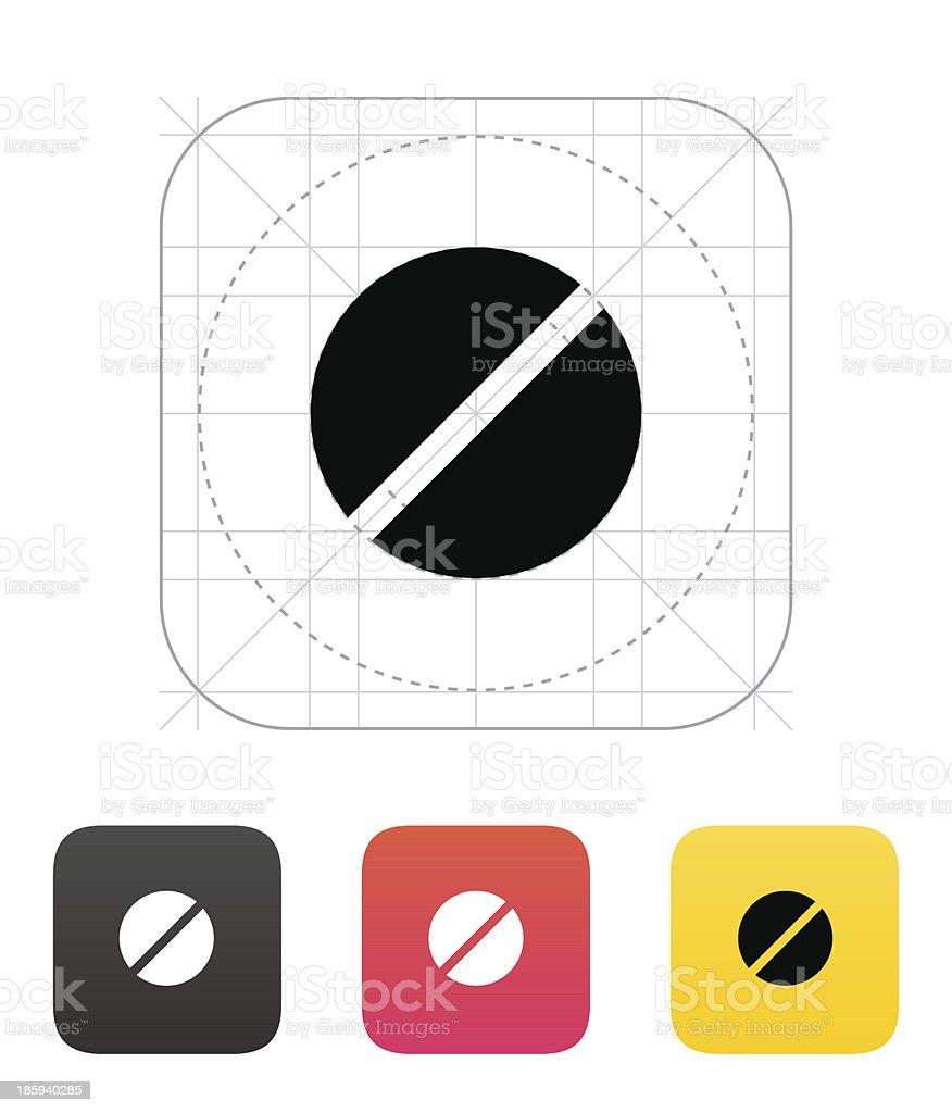 Pill icon. Vector illustration. royalty-free stock vector art