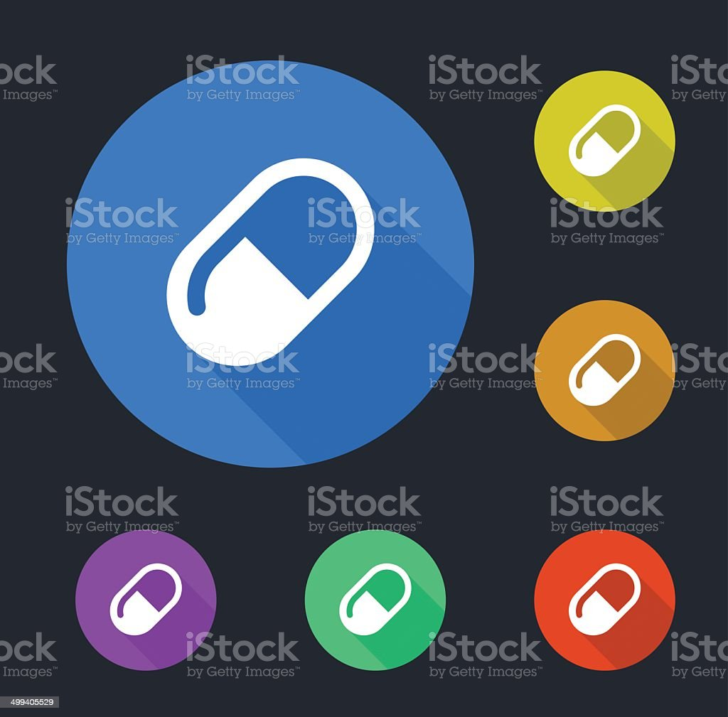 Pill Icons royalty-free stock vector art