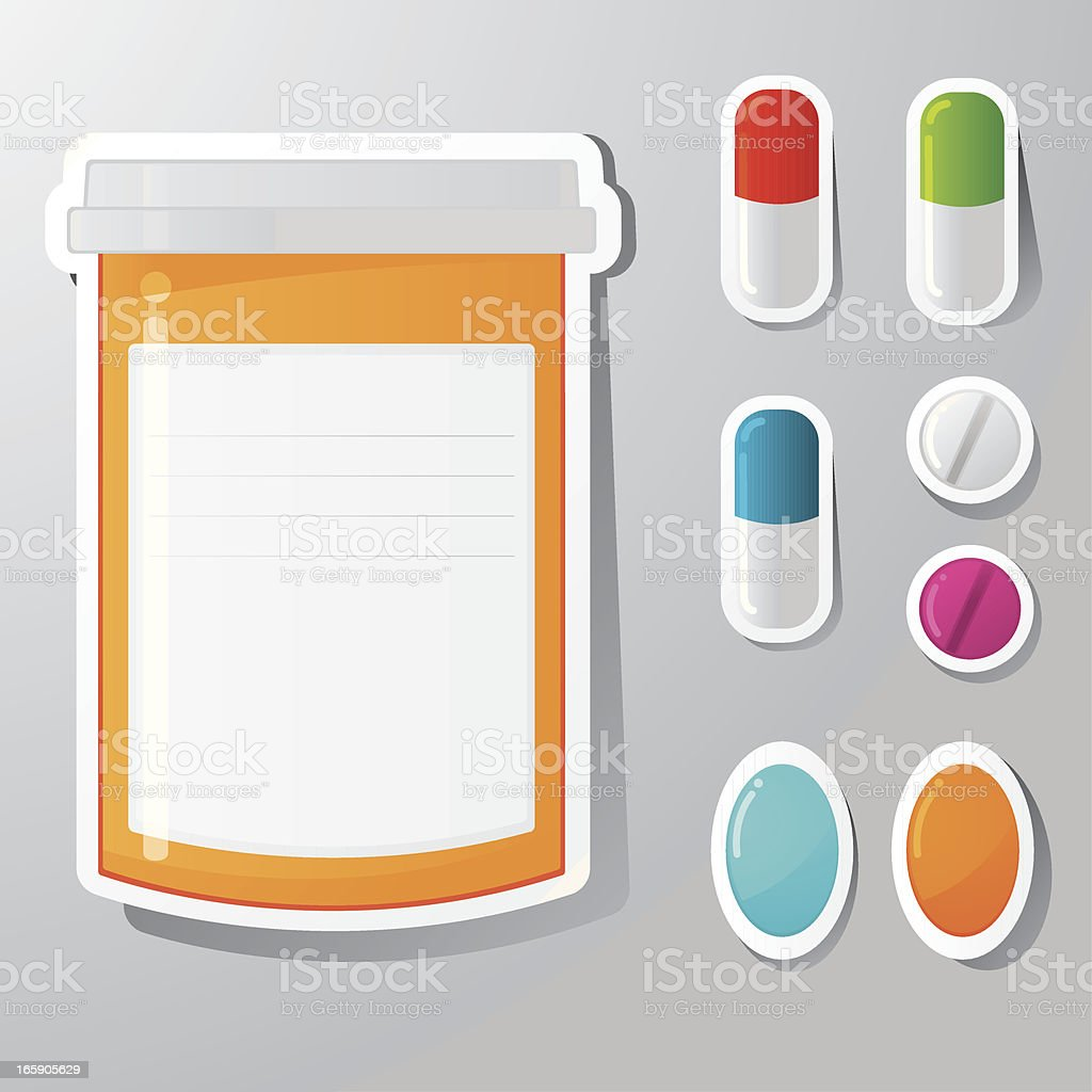 Pill stickers royalty-free stock vector art