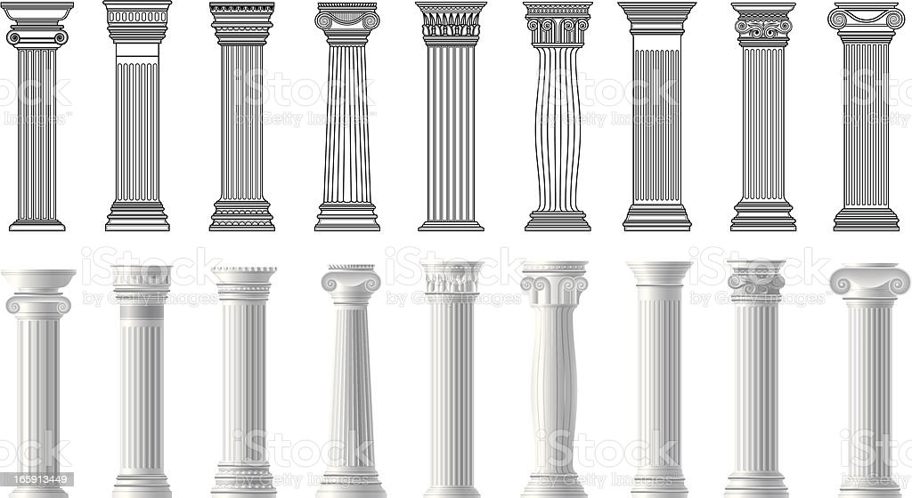 pillars royalty-free stock vector art