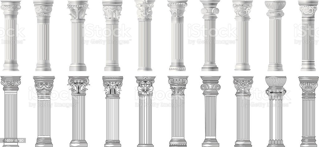 pillars royalty-free stock vector art