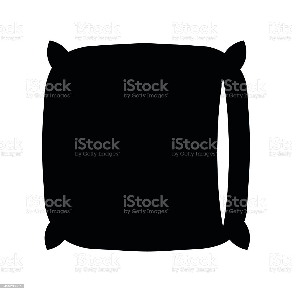 Pillow black icon vector art illustration