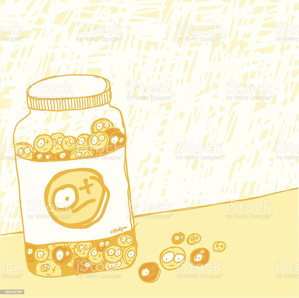 pills addiction - 2 royalty-free stock vector art