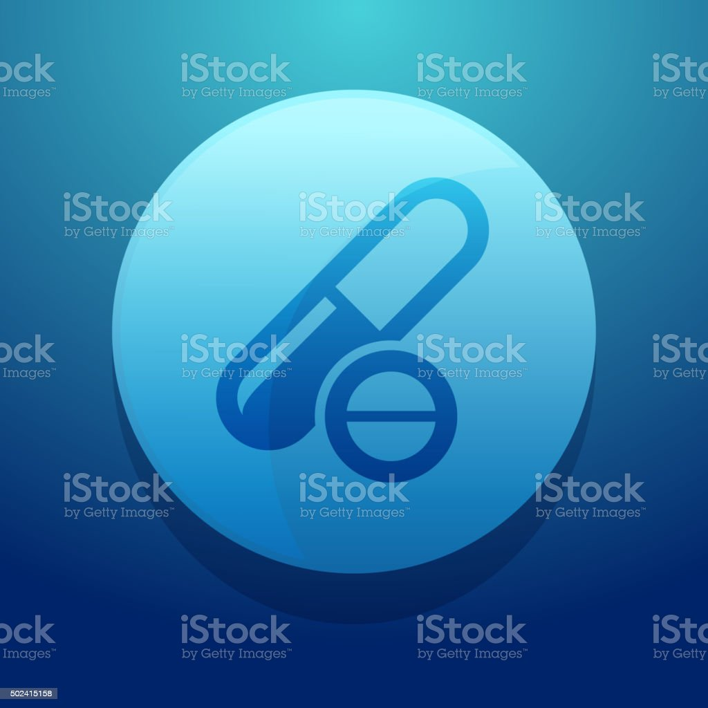 Pills and tablets Icon vector art illustration