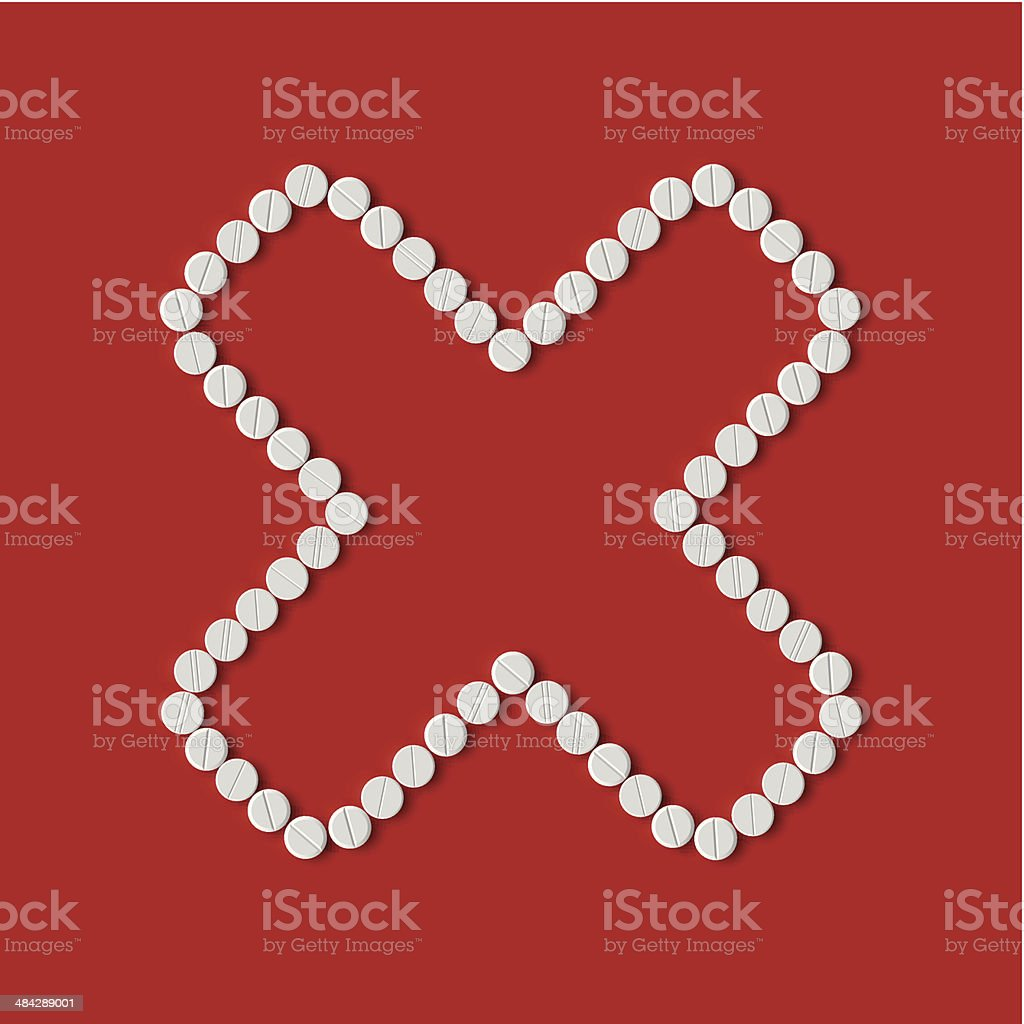 pills concept: cross, no royalty-free stock vector art