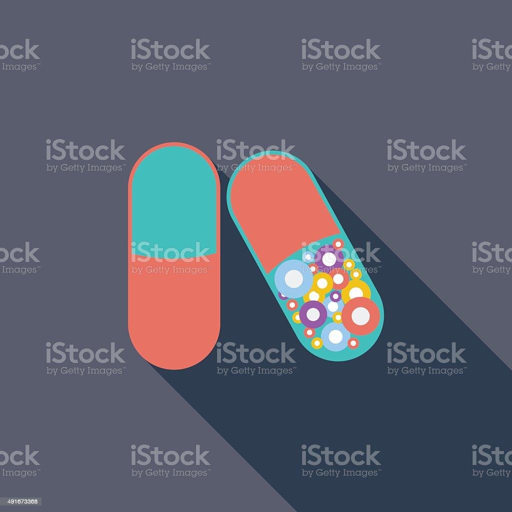 Pills icon vector art illustration