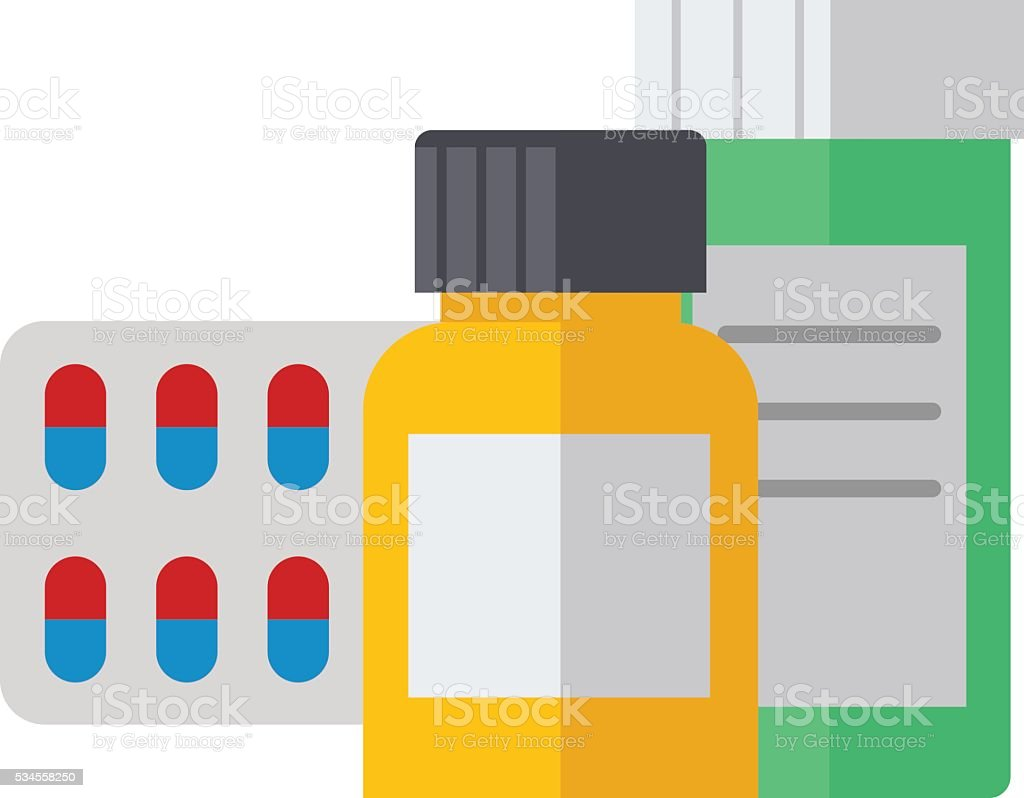 Pills isolated vector illustration. vector art illustration