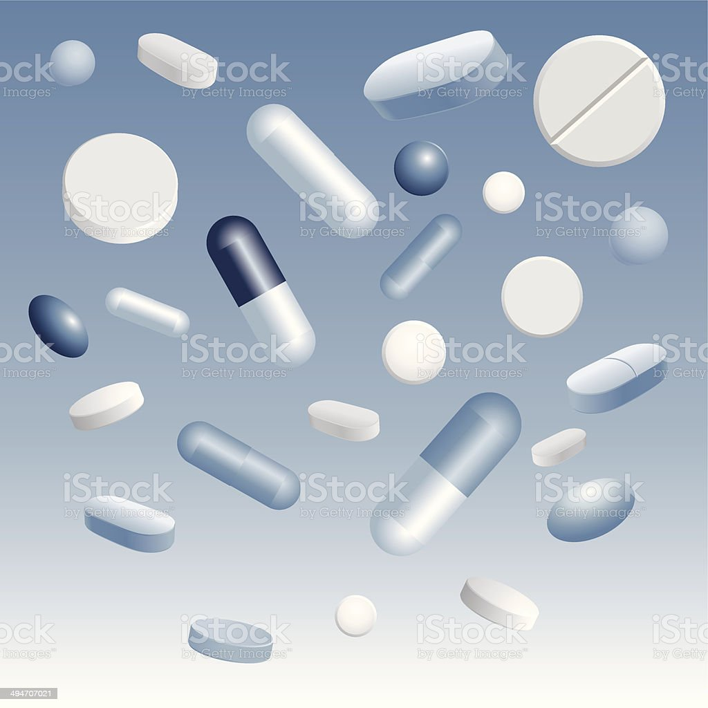 Pills royalty-free stock vector art