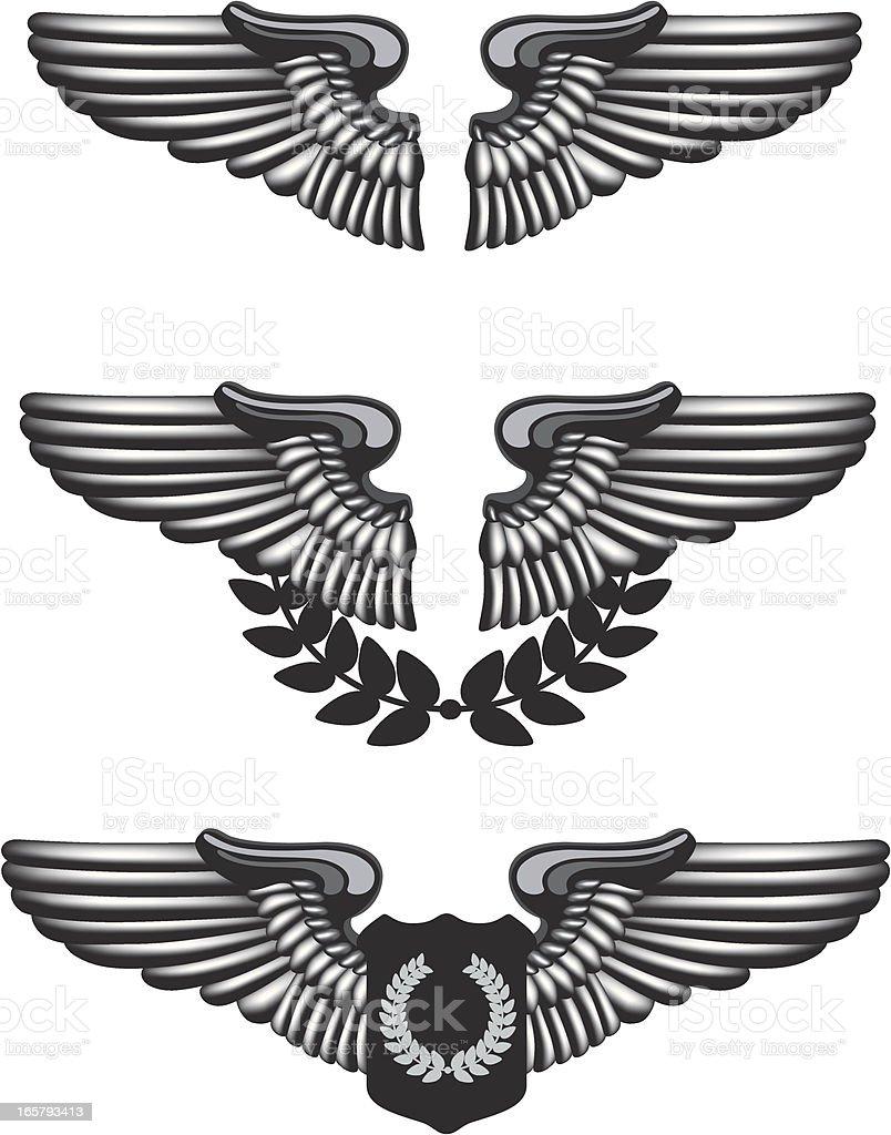 Pilot Badge vector art illustration
