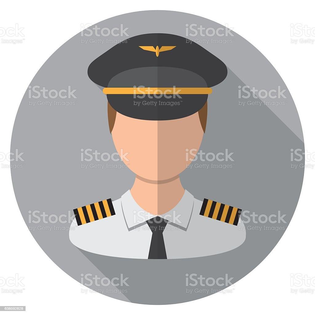 Pilot Icon vector art illustration