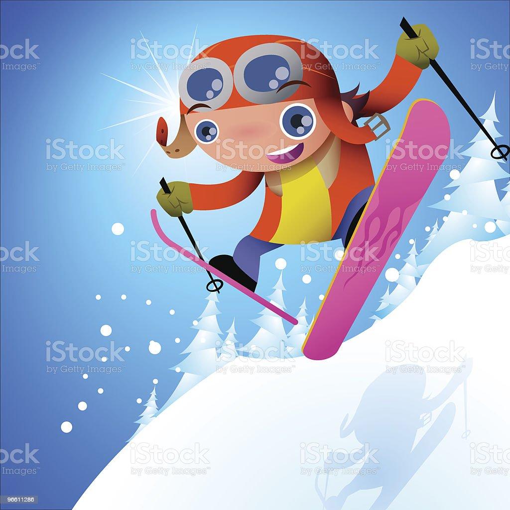 Pilots' Skier royalty-free stock vector art