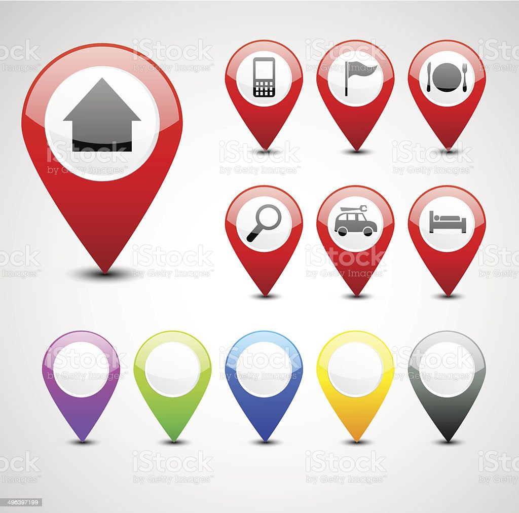 GPS à régler stock vecteur libres de droits libre de droits